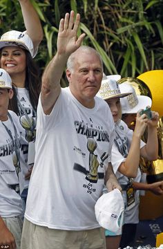 Coach Gregg Popovich, also known as Pop, coach of the five-time NBA Champions San Antonio Spurs ♥♥♥♥ #GoSpursGo!!!