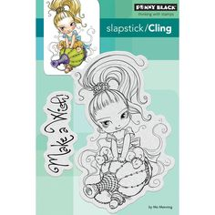 """Penny Black Cling Stamp 4""""x5"""" - Little Gini"""