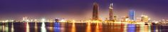 light of city by Nguyễn Nam on Night City, City Life, San Francisco Skyline, New York Skyline, Travel, Image, Viajes, Destinations, Traveling