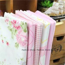 5 unids/lote 40 cm x 50 cm Rosa Rosa 100% cuartos de grasa de Tejido de Algodón para Coser Tilda Muñeca de Tela BRICOLAJE Quilting Patchwork Tejido Textil(China (Mainland))