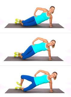 Plank and side plank are two of the most effective bodyweight moves you can do. If you're a plank fan, then you're going to love this variation. The sassy side plank targets the outer thighs, butt, ar