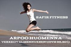 Safir Fitness arpoo huomenna viimeisen kerran Teho-verkkovalmennuksen (OVH 99,90€)! Oletko nähnyt missään näin monipuolista verkkovalmennusta?   Osallistua voit helposti tykkäämällä videostamme Facebook-sivullamme!   Suurella sydämellä,  Safir Fitness