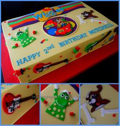 The Wiggles Cake. Dorothy the dinosaur, Wags the Dog and the Wiggles guitars!