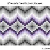 Diamonds Bargello Quilt Pattern - via @Craftsy