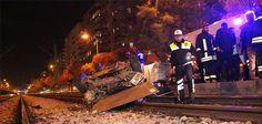 Konya Haber: Konyada otomobil tramvay yoluna devrildi: 2 yaralı