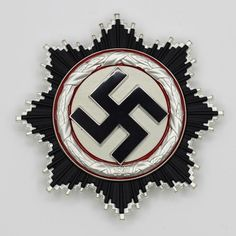 Replica of German WWII German Cross in Silver (Deutsches Kreuz) - The German Cross (German: Deutsches Kreuz) was instituted by Adolf Hitler on 28 September for Sale Joachim Peiper, Military Decorations, Wwii, Germany Ww2, Mumford, World War Ii, Badges, Silver, Patches