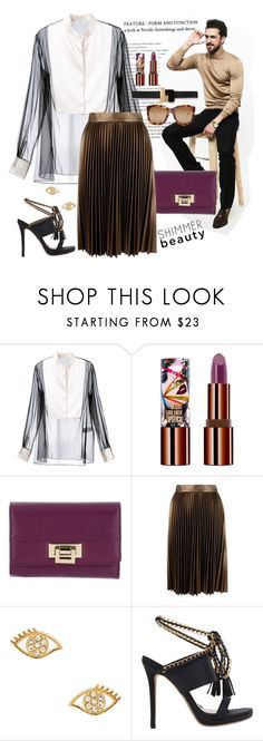 """""""Untitled #4746"""" by chelsofly ❤ liked on Polyvore featuring Lanvin, Teeez, Roccobarocco, Linda Farrow, Closet, Rebecca Minkoff and Roksanda"""