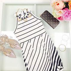 Last One Black And White Asymmetric Dress