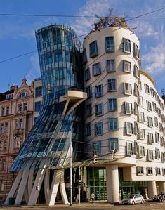 Dancing House designed by Vlado Milunić and Frank Gehry - Prague Czechia [34054326]