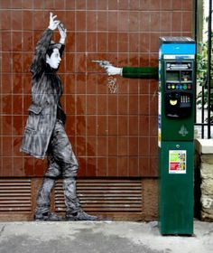 Street Art by Levalet, located in Rome, Italy