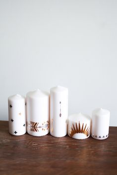DIY // Metallic Tattoo your ikea candles — Treasures & Travels