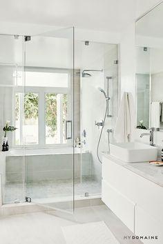 Modern Farmhouse, Rustic Modern, Classic, light and airy master bathroom design suggestions. Bathroom makeover some ideas and master bathroom renovation a few ideas. Wet Room Bathroom, Diy Bathroom Decor, Bathroom Layout, Bathroom Interior Design, Small Bathroom, Bath Room, Bathroom Ideas, Bathroom Hacks, Bathroom Grey