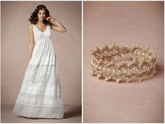 BHLDN Summer Linen Wedding Dress.