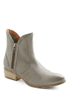 Grey zipper booties by Seychelles