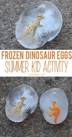 Frozen Dinosaur Eggs - Summer Kid Activity - Sisters, What! # summer activities for kids Frozen Dinosaur Eggs - Summer Kid Activity Babysitting Activities, Dinosaur Activities, Summer Activities For Kids, Infant Activities, Summer Kids, Preschool Dinosaur, Preschool Science, Outdoor Activities For Toddlers, Family Activities