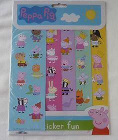 Peppa Pig Sticker fun 60+ Re-usable stickers