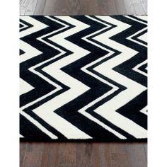 nuLOOM Handmade Modern Black/ White Chevron Rug (7'6 x 9'6) | Overstock.com Shopping - The Best Deals on 7x9 - 10x14 Rugs