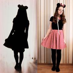 Lichtstaubmelodie: Selbstgemachtes Minnie Maus Kostüm und Fasching und so
