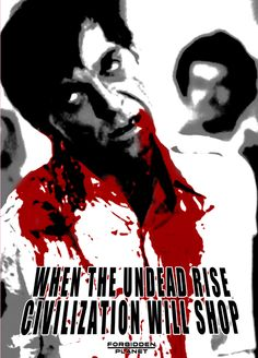 Forbidden Planet Zombie Poster - Sarah Anne Langton