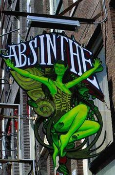 The Green Fairy ~ Absinthe Green Fairy Absinthe, Pub Signs, Business Signs, Store Signs, Hanging Signs, Vintage Signs, Poster, Neon Signs, Beverage