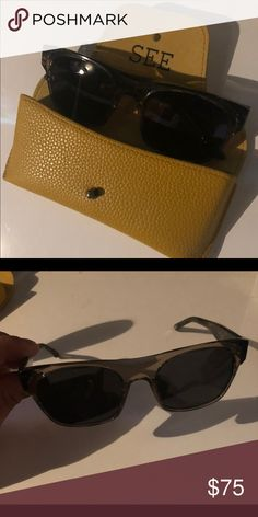31312750cb4c Yellow tortoise Wayfarer Style sunglasses! See sunglasses are great quality  Italian made sunglasses. Each