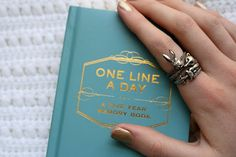 I bought this One Line a Day Journal a few months ago on a whim. I'm the type of person who buys a journal, writes in it for a few week. Day Book, Journal Prompts, Thoughtful Gifts, Inspire Me, Hair And Nails, Diy Gifts, Line, How To Make, Cards