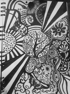 My Zentangle drawing, Inspiration 27th March 2013