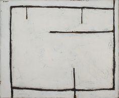 William Scott, Figure into Landscape, 1954, Oil on canvas, 50.6 × 60.7 cm / 20 × 24 in, Private collection
