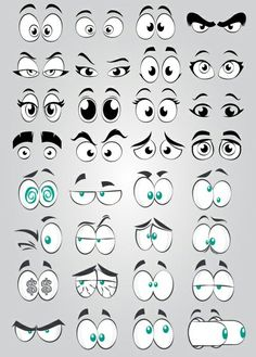 Cartoon Eye Collection Element, Big Eyes, Round Eyes, Cartoon Eyes PNG Transparent Clipart Image and Doodle Art Drawing, Art Drawings Sketches, Cartoon Drawings, Easy Drawings, Drawing Eyes, Drawing Hair, Gesture Drawing, Cartoon Faces Expressions, Cartoon Expression