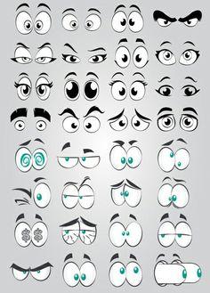 Cartoon Eye Collection Element, Big Eyes, Round Eyes, Cartoon Eyes PNG Transparent Clipart Image and Cartoon Faces Expressions, Cartoon Expression, Eye Expressions, Doodle Art Drawing, Art Drawings Sketches, Cartoon Drawings, Easy Drawings, Drawing Eyes, Drawing Hair