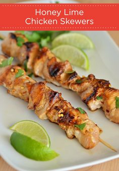 Grill up a batch of these tasty Honey Lime Chicken Skewers at your next backyard barbecue! Don't forget to serve dipping sauce in your Hefty® Ultimate™ Easy Grip® Cups to make entertaining easy!
