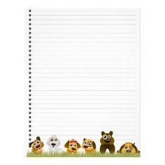 Cute Dogs Lined Letterhead  http://www.zazzle.com/cute_dogs_lined_letterhead-199916589088371556
