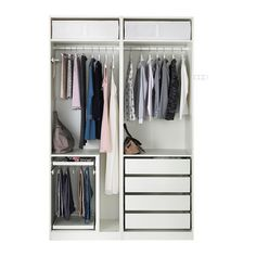 17 ideas home ideas ikea pax wardrobe Bedroom Wardrobe, Wardrobe Design, Wardrobe Closet, Mini Dressing, Dressing Ikea, Ikea Bedroom, Bedroom Decor, Pax Planer, Pax Closet