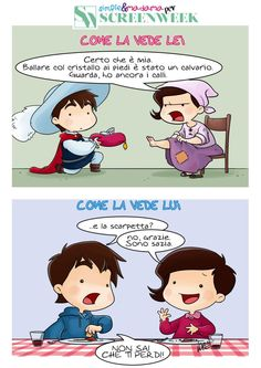 CENERENTOLA: LA VIGNETTA DI SIMPLE & MADAMA PER SCREENWEEK - http://c4comic.it/2015/03/12/simple-madama-e-la-loro-cenerentola/