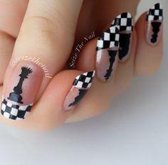 Chess Fingernails www.pinterest.com/taddhh