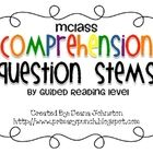 This file contains a chart of all the mClass comprehension question stems by guided reading levels for an easier reference when teaching and planni. Guided Reading Levels, Reading Help, Common Core Reading, Teaching Reading, Reading Groups, Teaching Ideas, Reading Time, Learning, Reading Comprehension Strategies