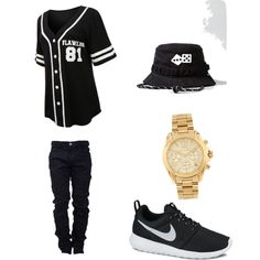 Casual wear by og-flygirl-z on Polyvore featuring polyvore, fashion, style, NIKE and Michael Kors