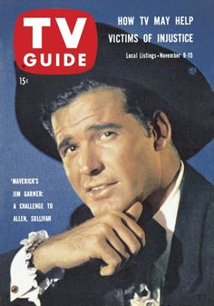 "TV Guide, November 9, 1957 - Jim Garner of ""Maverick"""