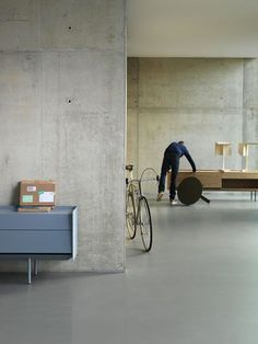 Minimalist-Concrete-Light Color: Interior Design, Spaces, Ideas, Concrete Walls, Interiors, Living Room, Architecture, House