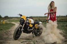 Honda 'Eat my Dust' by Cardsharper Customs Guzzi V7, Moto Guzzi, Honda Bikes, Honda Motorcycles, Lady Biker, Biker Girl, Cx500 Cafe Racer, Cafe Racers, Cx 500