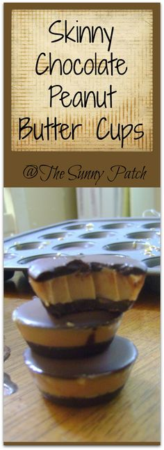 Trim Healthy Mama Skinny Chocolate Peanut Butter Cups. Add a dash or two of salt to the peanut butter filling. My goodness it is wonderful, if you like Reeses peanut butter cups!!!!