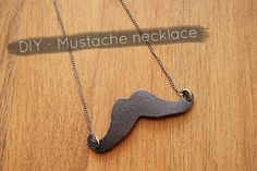 DIY Jewelry DIY Leather mustache necklace