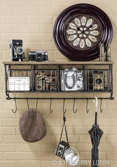 Home decor and organization go hand in hand when you display your treasures and everyday items on a decorative shelf.
