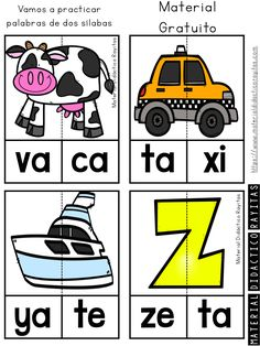 Learning Websites For Kids, Spanish Lessons For Kids, Alphabet Writing, Pre Kindergarten, Word Puzzles, Teaching Activities, School Colors, School Resources, Learn To Read