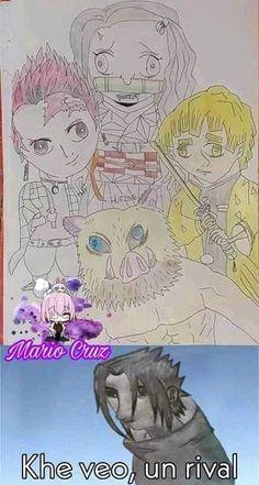 kimetsu no yaiba memes Otaku Anime, Anime Meme, Meme Otaku, Really Funny Memes, Stupid Funny Memes, Cute Cat Memes, Memes Estúpidos, Kid Memes, Slayer Meme