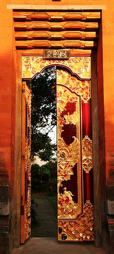Impressive Gold and Red Door By magnusvk Magnus von Koeller