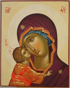 unique and beautiful Orthodox Icon of Mother Virgin Mary of god Jesus Christ Hand Painted Gold oreols /& Ornamented