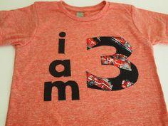Firetruck Party Fire Truck Birthday Shirt Organic Blend Boys Birthday Shirt truck shirt. $28.00, via Etsy.