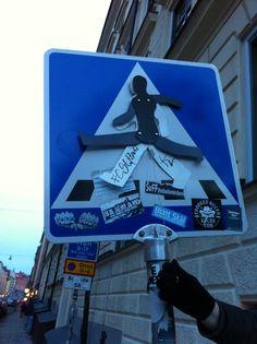 Sprællemand, street art Stockholm Sweden
