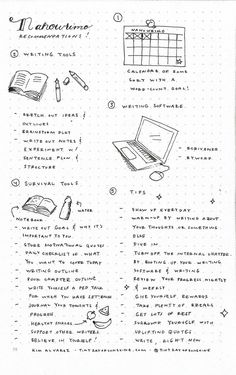 #NaNoWriMo Resources by Tiny Ray of Sunshine